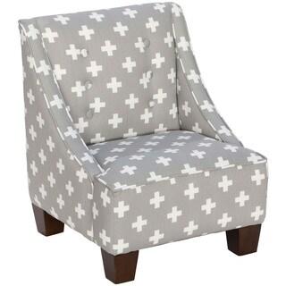 Skyline Furniture Kid's Mid-century Modern Swiss Cross Twill Fabric Chair