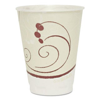 SOLO Cup Company Symphony Design Trophy Foam Hot/Cold Drink Cups 12oz 300/Carton