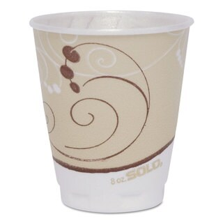 SOLO Cup Company Symphony Design Trophy Foam Hot/Cold Drink Cups 8-ounce 300/Carton