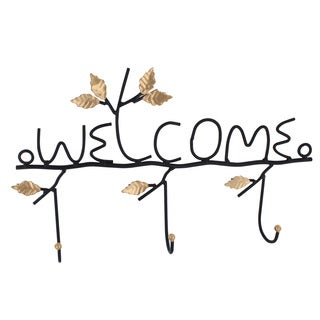 Ikee Design 'Welcome' Wall-mounted 3-hook Hanging Organizer
