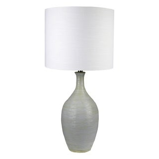 JT LIGHTING Lamantia Light Grey Ceramic 32-inch High Table Lamp