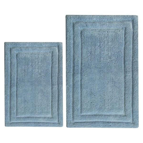 Classic 2-Piece Bath Rug Set - Blue