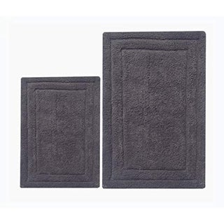 Benzara Classic Platinum Grey 2-piece Bath Rug Set