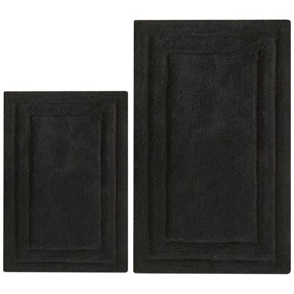 Classic 2-Piece Bath Rug Set - Black
