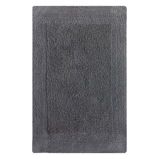Splendor Platinum Gray Reversible Bath Rug (21 x 34)