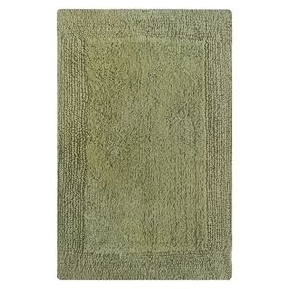 Splendor Sage Green Cotton Reversible Bath Rug (21 x 34)