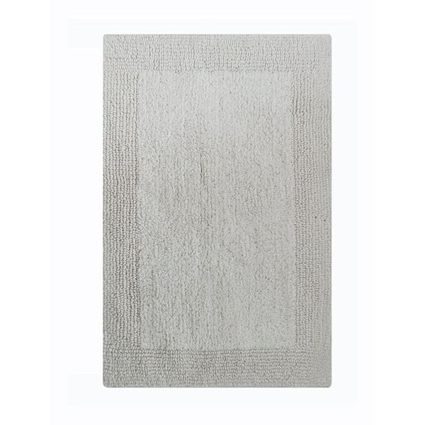 Benzara Splendor White Cotton 24-inch x 40-inch Reversible Bath Rug