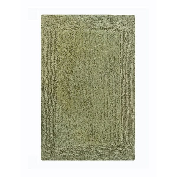 Benzara Splendor Sage Green Reversible Bath Rug (24 Inches x 40 Inches)
