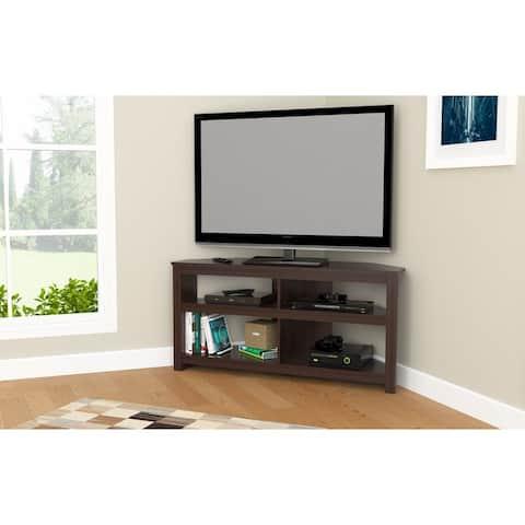 Inval Contemporary Espresso Corner TV Stand