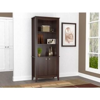Inval Espresso Contemporary Bookcase with Doors