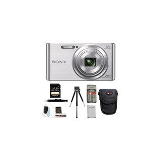 Sony DSCW830 20.1 Digital Camera with 2.7-Inch LCD (Silver) Essential Kit
