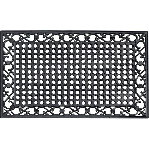A1HC First Impression Zander Indoor/ Outdoor/Kitchen/Restaurant/Bathroom/Pool Rubber Mat (24-inch x 36-inch)