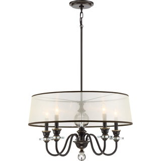 Quoizel Ceremony Chandelier With 5 Lights in Palladian Bronze Finish