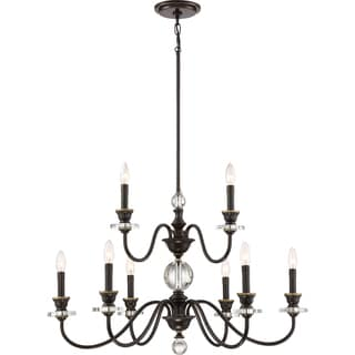 Quoizel Ceremony Bronze-finished Steel 9-light Two-tier Chandelier