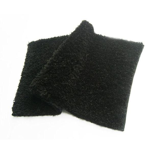 Benzara Bliss Black Micro Shag Rug (24x40)
