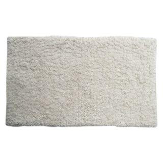 Benzara Bliss Off-white Micro Shag Rug (24x40)