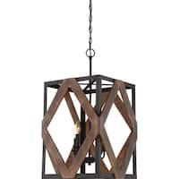 Quoize Veranda Western Bronze 4-light Cage Chandelier