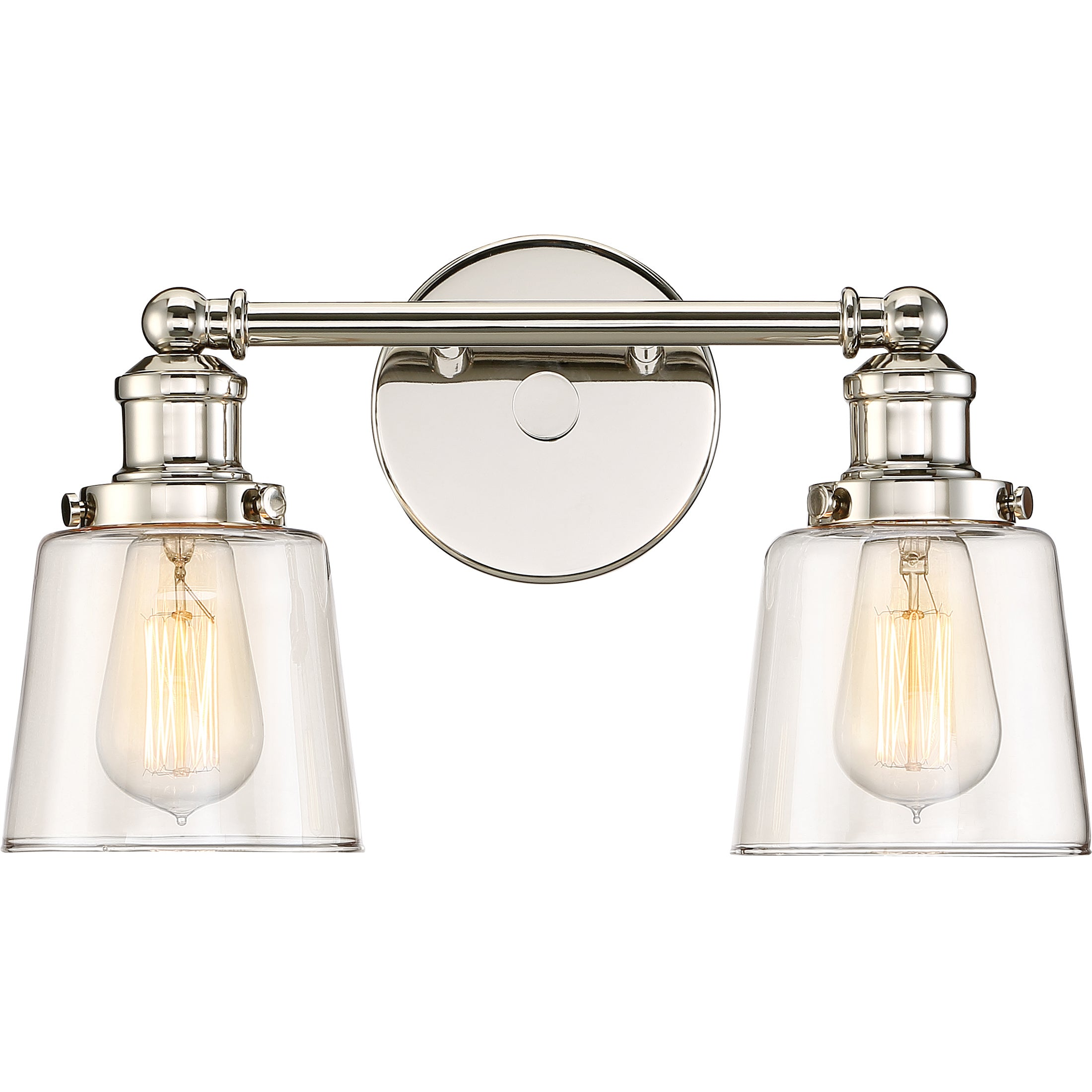 Quoizel Union Nickel Steel 2 Light Bath Fixture