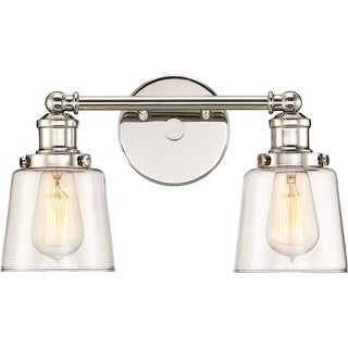 Oliver & James Lerambert Nickel 2-light Bath Fixture