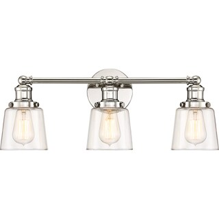 Quoize Union Polished Nickel 3-light Bath Fixture