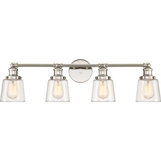 Oliver & James Lerambert Nickel 4-light Bath Fixture