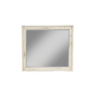 Origins Malibu White Wood and Glass Mirror
