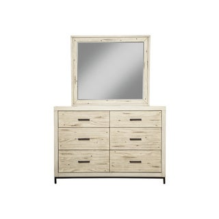 Alpine Furniture Origins Malibu White Wood 6-drawer Dresser