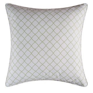 Green Lattice Cotton Euro Sham