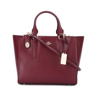 Coach Crosby Carryall Burgundy Leather Handbag