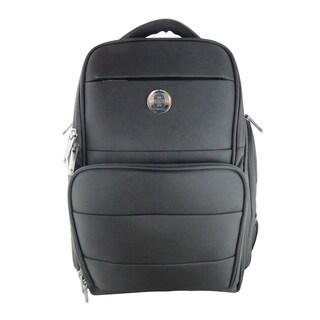 Swissdigital Simm Black Business Travel Backpack