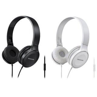 Panasonic RP-HF100M Lightweight Headphones Matte w/mic+controller (1-Black + 1-White)