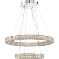 Quoizel Platinum Collection Infinity Polished Chrome Finish Pendant with LED Light - Silver