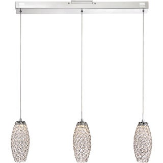 Quoize Platinum Collection Infinity Island Polished-chrome 3-light Chandelier
