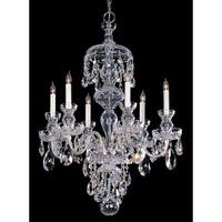 Crystorama Traditional Crystal Collection 6-light Polished Chrome/Crystal Chandelier