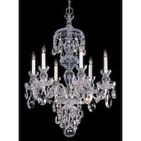 Crystorama Traditional Crystal Collection 6-light Polished Chrome/Crystal Chandelier - Polished Chrome