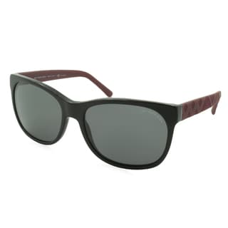 Burberry Sunglasses - 4183 / Frame: Black with Red Temples Lens: Gray