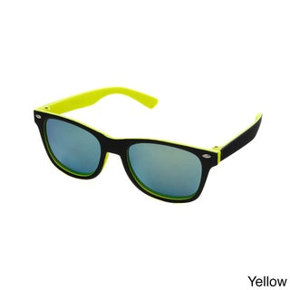Hot Optix Children's Way-Cool Mirrored Sunglasses (Option: Black/Yellow - Yellow - Smoke)