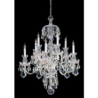 Crystorama Traditional Crystal Collection 10-light Polished Brass/Swarovski Spectra Crystal Chandelier