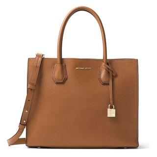 Michael Kors Mercer Convertible Luggage Brown Tote Bag