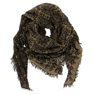 LA77 Diamond Patterned Woven Pashmina Scarf