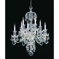 Crystorama Traditional Crystal Collection 10-light Polished Chrome/Swarovski elements Strass Crystal Chandeli