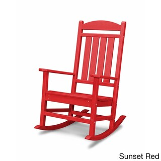 POLYWOOD Presidential Outdoor Rocking Chair (Option: Sunset Red)