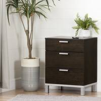South Shore Flexible Nightstand with Charging Station and Drawers