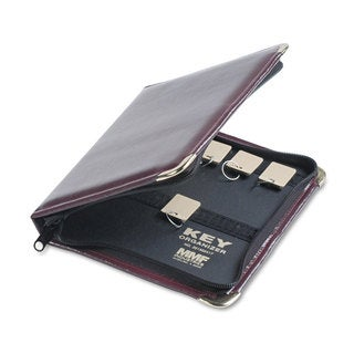 SteelMaster Burgundy Leatherette Portable Zippered 24-Key Case