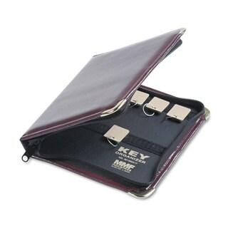 SteelMaster Burgundy Leatherette Portable Zippered 24-Key Case