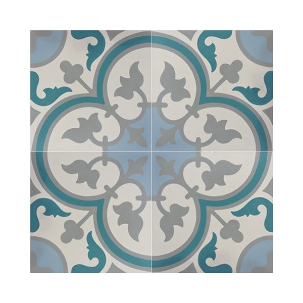 Casa multicolor pack of 12 handmade 8 x 8 cement tiles for Handmade cement tiles