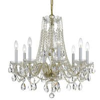 Crystorama Traditional Crystal Collection 8-light Polished Brass/Swarovski Elements Spectra Crystal Chandelie