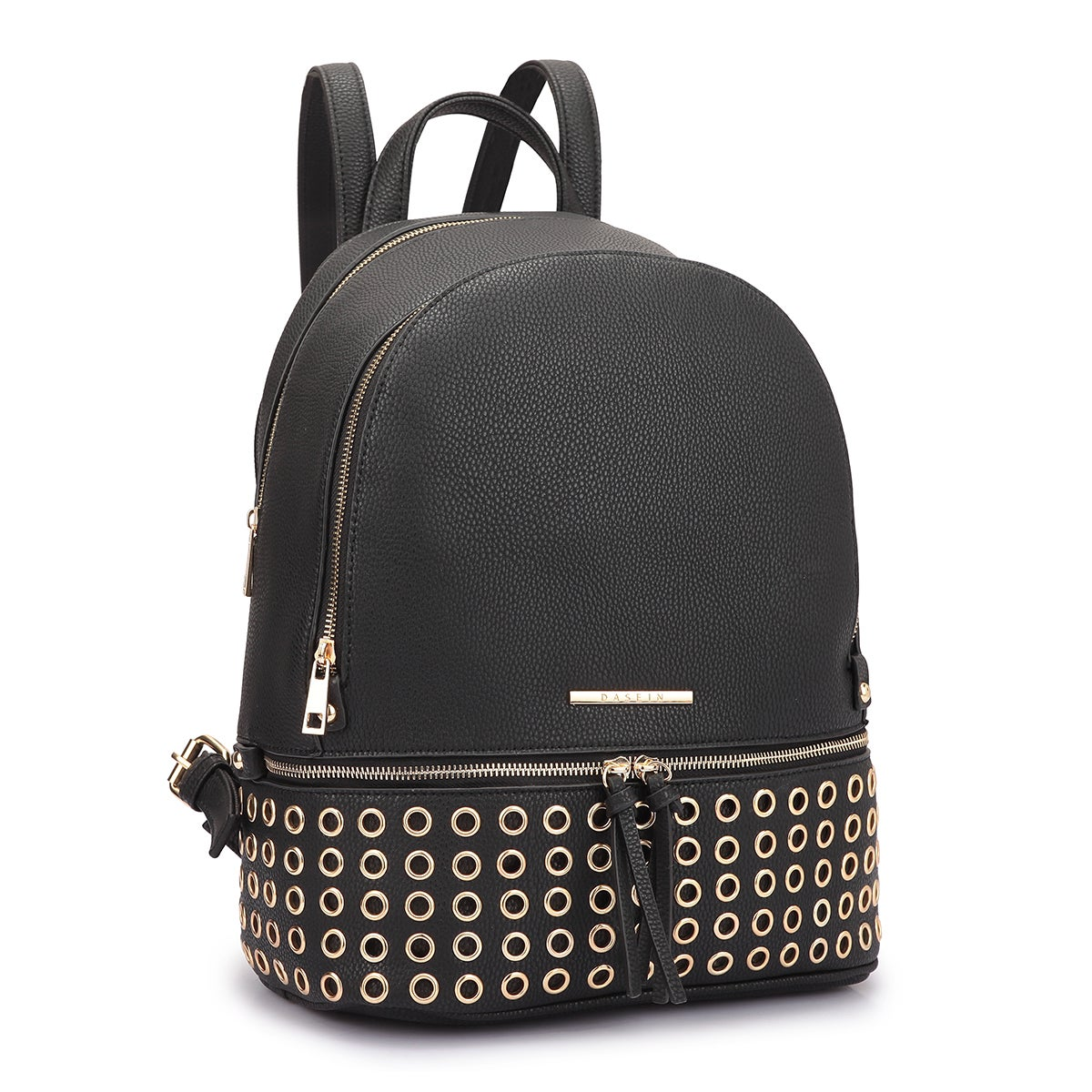 Shop Dasein Faux Leather Round Studded Fashion Backpack - On Sale - Free  Shipping Today - Overstock - 13915327 58b34454a73a6