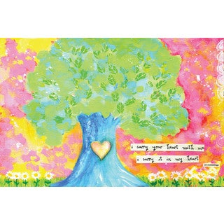 Marmont Hill - 'I Carry Your Heart' by Jill Lambert Painting Print on Wrapped Canvas