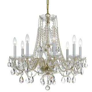 Crystorama Traditional Crystal Collection 8-light Polished Brass/Crystal Chandelier